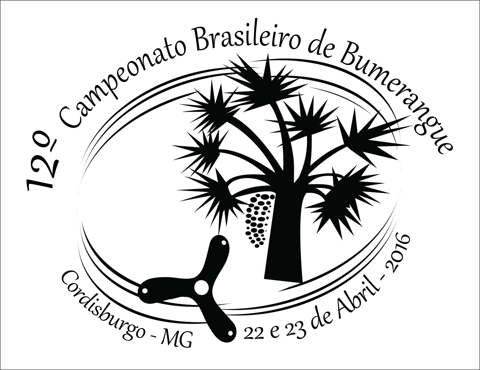 12º Campeonato Brasileiro de Bumerangue Campeonato, Cordisburgo. Minas Gerais, Bumerangue, Associação Brasileira de Bumerangue, ABB